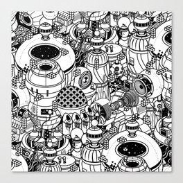 Dark Matter Space Machine Canvas Print