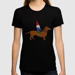 Gnome Riding a Dachshund T-shirt