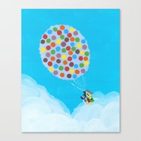pixar Canvas Prints featuring Up - Disney/Pixar by Justine Shih
