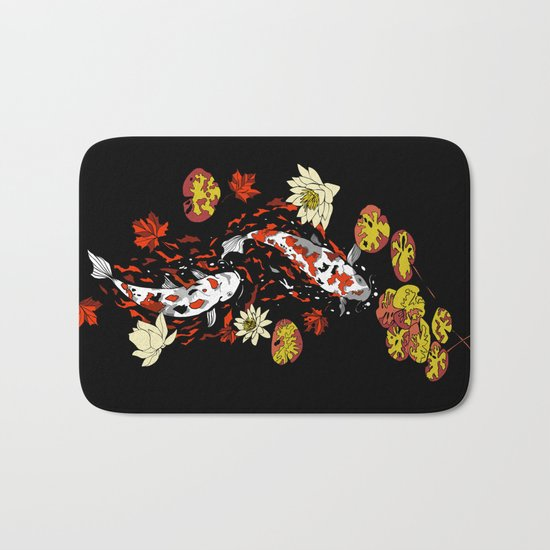 FALLING FISHES Bath Mat