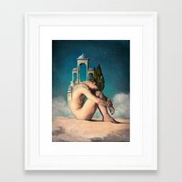 dreamer Framed Art Prints featuring Dreamer by Christian Schloe