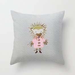 Hedgehog Forest Friends Baby Animals Throw Pillow