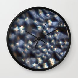 Glassy Refraction 3 Wall Clock