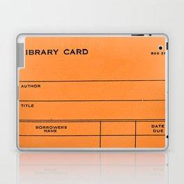 Library Card BSS 28 Orange Laptop & iPad Skin
