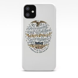 small government, larger freedom iPhone Case