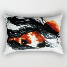 Paint Horse Portrait Rectangular Pillow