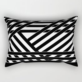 Black and white binding 1 Rectangular Pillow