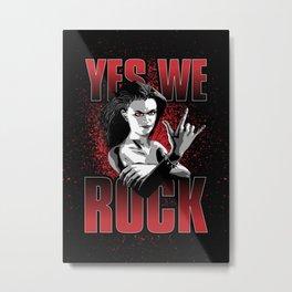 Girls ROCK Metal Print