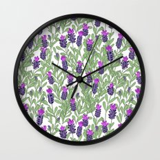 April blooms(lavender) Wall Clock
