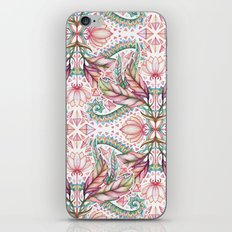 Lily, Leaf & Triangle Pattern – multi-color version iPhone & iPod Skin