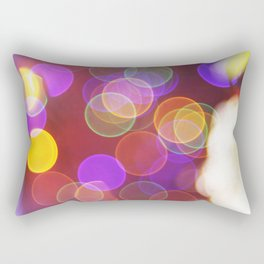 Bright and Blurred City Lights Rectangular Pillow