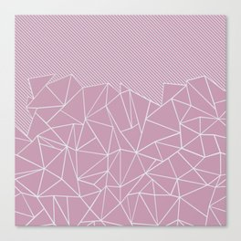 Ab Lines 45 Pink Canvas Print
