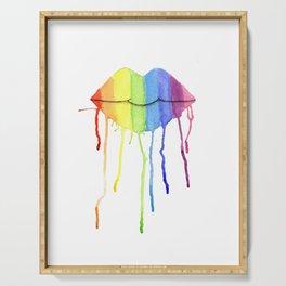 Rainbow Lips Serving Tray
