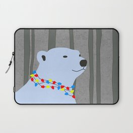 Polar Bear Holiday Design Laptop Sleeve
