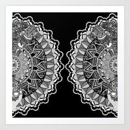 silver mandala Art Print