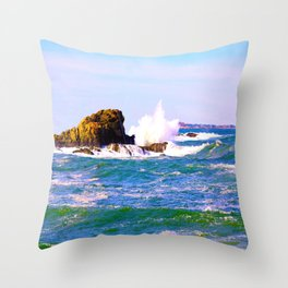 Breakers Point Rocks Throw Pillow