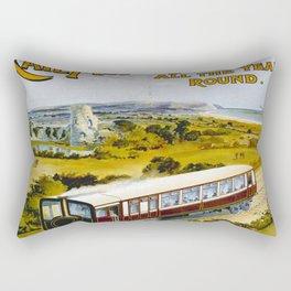 Vintage poster - Brighton Railway Rectangular Pillow