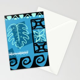 Hawaiian Pattern #1 - aqua! Stationery Cards