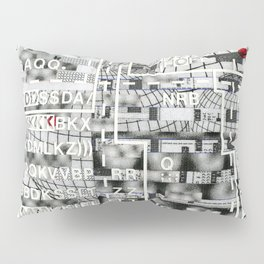 Pretty Morning Rainbow & Butterfly Pep Rally (P/D3 Glitch Collage Studies) Pillow Sham