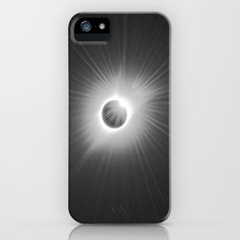 Total Solar Eclipse Illuminated by Sun  iPhone Case