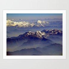 Himalayas Landscape Art Print