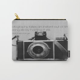 Dorothea Lange Quote Vintage Camera Carry-All Pouch