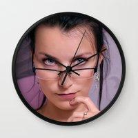 teacher Wall Clocks featuring Teacher by Karel Stepanek