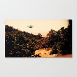 UFO Over Landscape by Raphael Terra Canvas Print