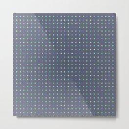 Light Blue Dots Pattern Metal Print