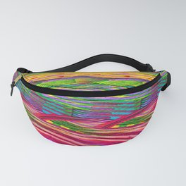 Rainbow Waves  #society6 #decor #buyart Fanny Pack