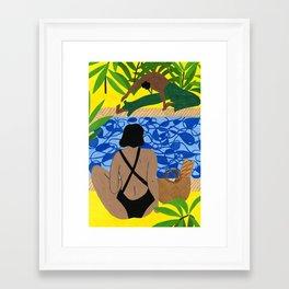 Hockney Poolside Framed Art Print