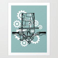 Robot Handlebar Mustache  Art Print