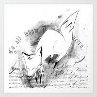 minima - deco fox Art Print