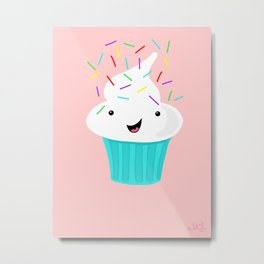 Happiness Is Sprinkles On Your Cupcake Metal Print
