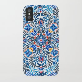 Blue-red mandala iPhone Case