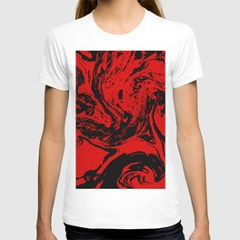 Red & Black liquid ink T-shirt
