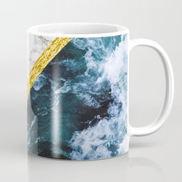 Wild Glamour - slicing marble, gold and ocean waves Coffee Mug
