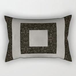 Silver Squares Rectangular Pillow