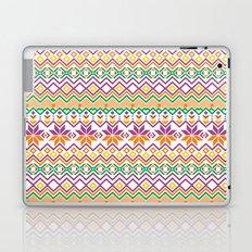Orange Snowflake Laptop & iPad Skin
