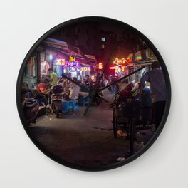 Shanghai Streets Wall Clock