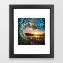 Beach - Waves - Ocean - Sun   Framed Art Print