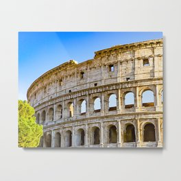 Vita Bellissima (Beautiful Life): Colosseum in Rome, Italy Metal Print