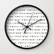 Flag Pattern Wall Clock