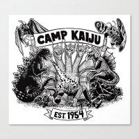 kaiju Canvas Prints featuring Camp Kaiju by Austin James