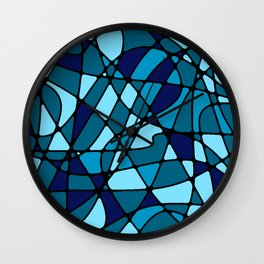 Stained Glass -- Blue Wall Clock