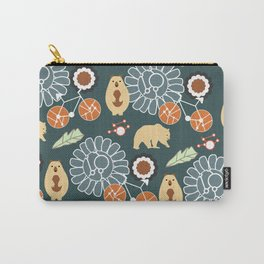 Bikes, bears and flowers Carry-All Pouch
