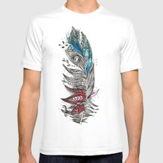 Garden Feather Mens Fitted Tee White MEDIUM