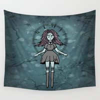 witch Wall Tapestries featuring Witch ☾ by A+A Noisome Art