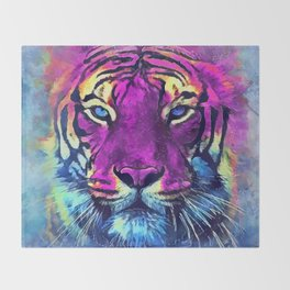 tiger purple spirit #tiger Throw Blanket