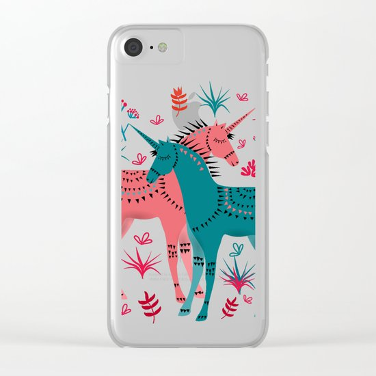 Unicorn Land Clear iPhone Case